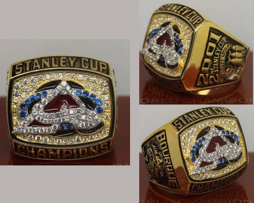 2001 NHL Championship Rings Colorado Avalanche Stanley Cup