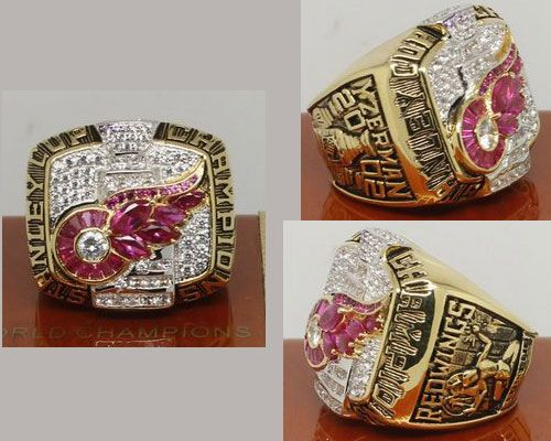 2002 NHL Championship Rings Detroit Red Wings Stanley Cup Ring