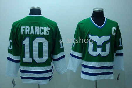 Hartford Whalers 10 FRANCIS green CCM Hockey Jerseys