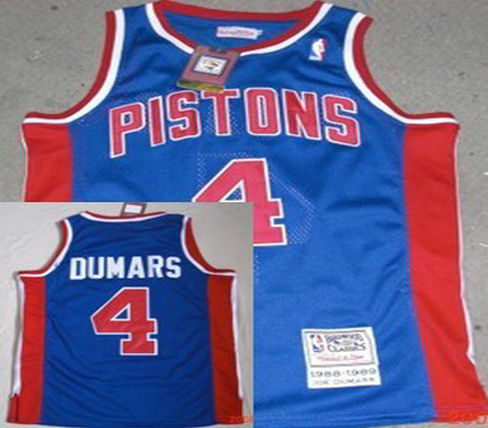 Philadelphia Sixers #4 Dumars Blue Throwback Swingman Jersey