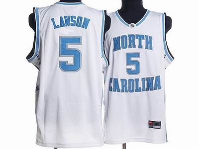 North Carolina #5 Ty Lawson Embroidered College Jerseys White