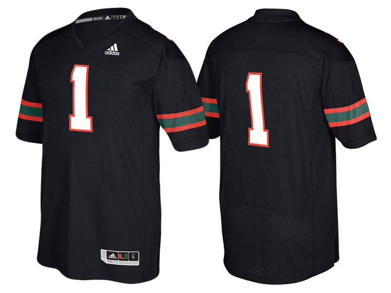 2017 Custom Miami Hurricanes Black Jersey
