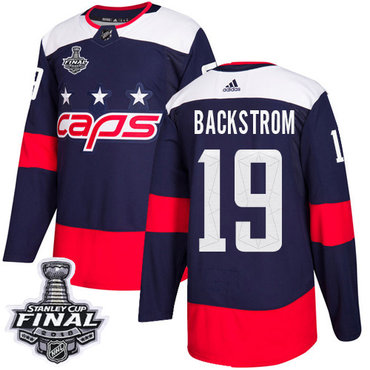 Adidas Capitals #19 Nicklas Backstrom Navy Authentic 2018 Stadium Series Stanley Cup Final Stitched NHL Jersey