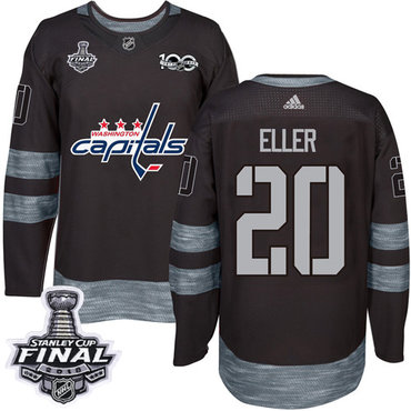 Adidas Capitals #20 Lars Eller Black 1917-2017 100th Anniversary 2018 Stanley Cup Final Stitched NHL Jersey