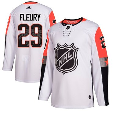 Adidas Golden Knights #29 Marc-Andre Fleury White 2018 All-Star Pacific Division Authentic Stitched NHL Jersey