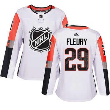 Adidas Golden Knights #29 Marc-Andre Fleury White 2018 All-Star Pacific Division Authentic Women's Stitched NHL Jersey