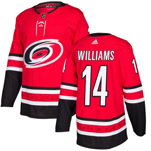 Adidas Hurricanes #14 Justin Williams Red Home Authentic Stitched NHL Jersey