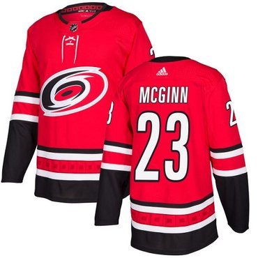 Adidas Hurricanes #23 Brock McGinn Red Home Authentic Stitched NHL Jersey