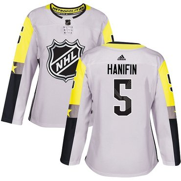 Adidas Hurricanes #5 Noah Hanifin Gray 2018 All-Star Metro Division Authentic Women's Stitched NHL Jersey