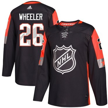Adidas Jets #26 Blake Wheeler Black 2018 All-Star Central Division Authentic Stitched NHL Jersey