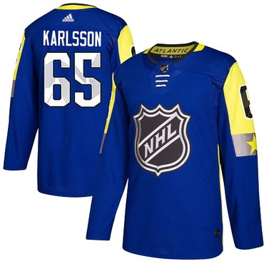 Adidas Senators #65 Erik Karlsson Royal 2018 All-Star Atlantic Division Authentic Stitched NHL Jersey