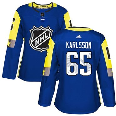 Adidas Senators #65 Erik Karlsson Royal 2018 All-Star Atlantic Division Authentic Women's Stitched NHL Jersey