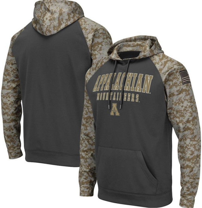 Appalachian State Mountaineers Gray Camo Men's Pullover Hoodie