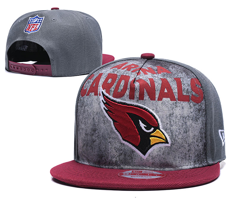 Arizona Cardinals Team Logo Gray Red Adjustable Hat TX