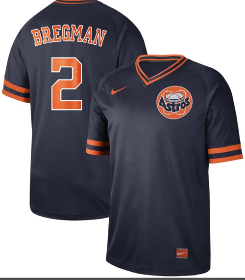 Astros #2 Alex Bregman Navy Authentic Cooperstown Collection Stitched Baseball Jersey