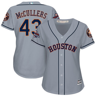 Astros #43 Lance McCullers Grey Road 2017 World Series Champions Women's Stitched MLB Jersey