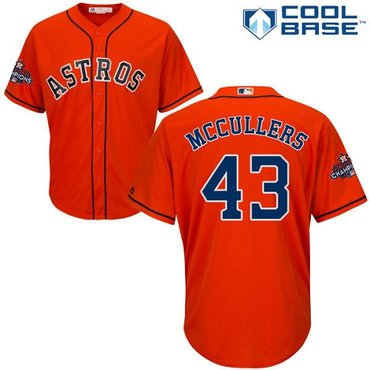 Astros #43 Lance McCullers Orange Cool Base 2017 World Series Champions Stitched Youth MLB Jersey