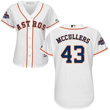Astros #43 Lance McCullers White Home 2017 World Series Champions Women's Stitched MLB Jersey