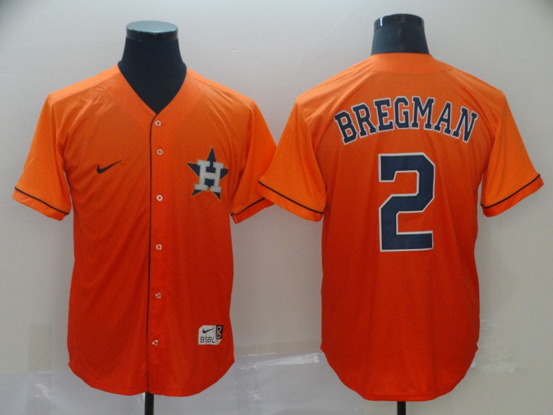 Astros 2 Alex Bregman Orange Drift Fashion Jersey