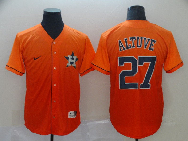 Astros 27 Jose Altuve Orange Drift Fashion Jersey