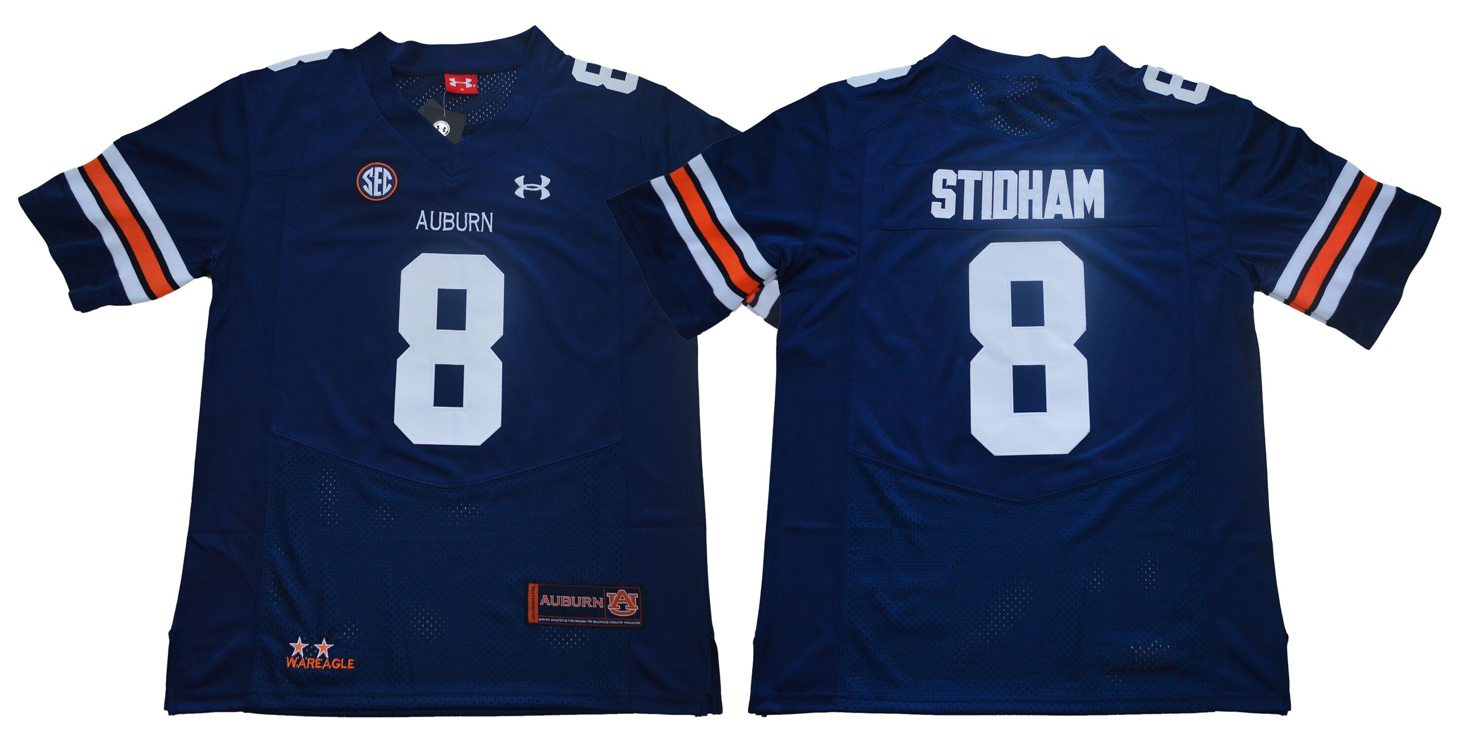 Auburn Tigers 8 Jarrett Stidham Navy College Football Jersey