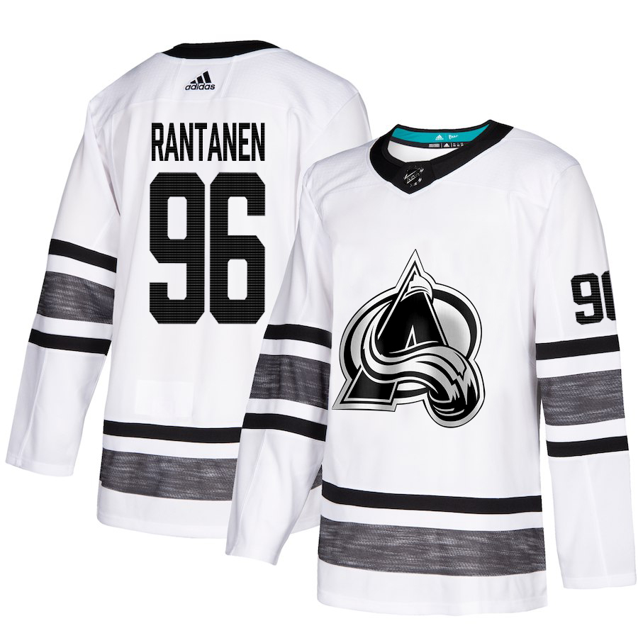 Avalanche #96 Mikko Rantanen White Authentic 2019 All-Star Stitched Hockey Jersey