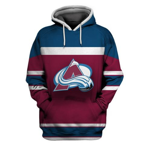 Avalanche Wine All Stitched Hooded Sweatshirt