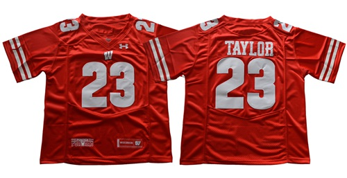 Badgers #23 Jonathan Taylor Red Under Armour Stitched NCAA Jersey