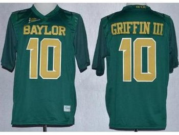 Baylor Bears Lache 10 Rebort Griffin Green NCAA Jerseys