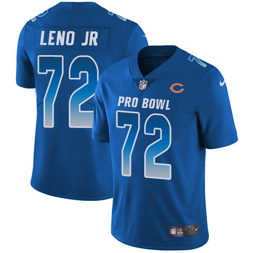 Bears #72 Charles Leno Jr Royal Youth Stitched Football Limited NFC 2019 Pro Bowl Jersey