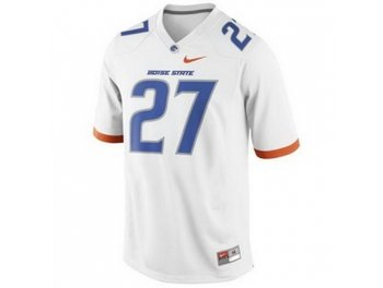 Boise State Broncos 27 Jay Ajayi White College Football NCAA Jerseys