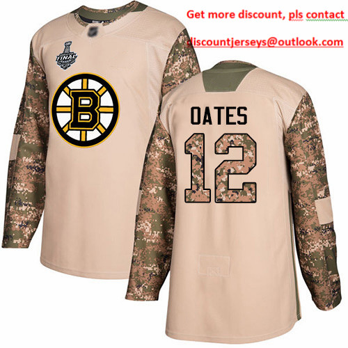 Bruins #12 Adam Oates Camo Authentic 2017 Veterans Day Stanley Cup Final Bound Stitched Hockey Jersey