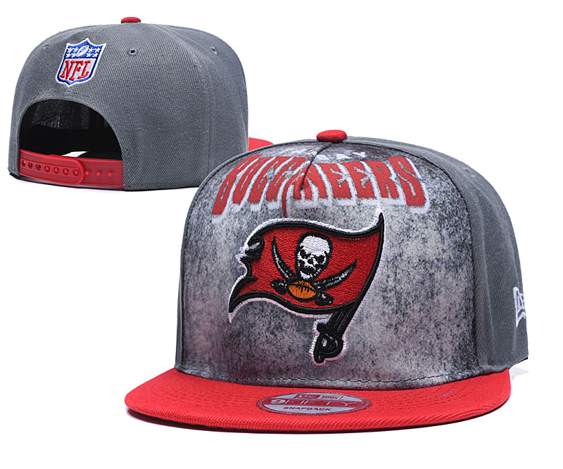 Buccaneers Team Logo Gray Red Adjustable Hat TX