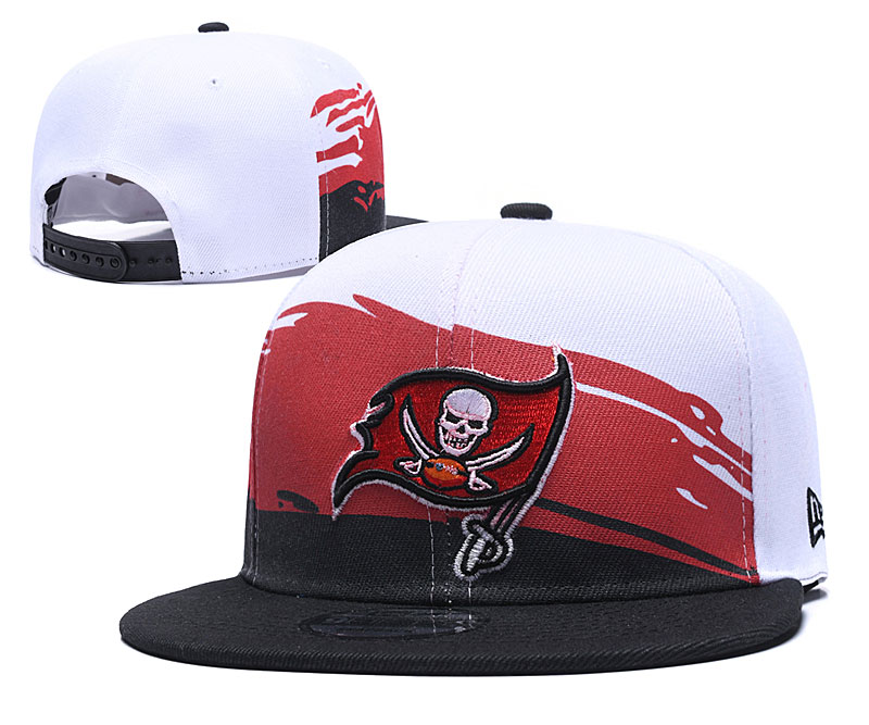 Buccaneers Team Logo White Red Black Adjustable Hat GS