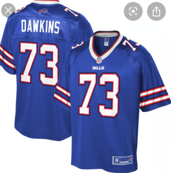 Buffalo bills #73 Dawkins Blue Vapor Limited Jersey