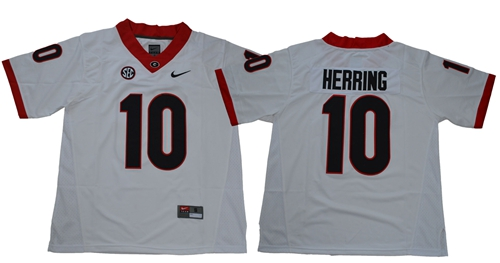 Bulldogs #10 Malik Herring White Limited Stitched NCAA Jersey$49.00$22.50