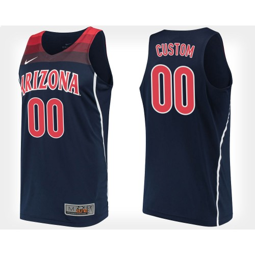 CUSTOM Arizona Wildcats #00 Navy College Basketball Jersey