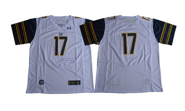 California Golden Bears #17 White College Football Jersey