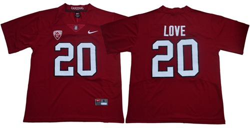 Cardinal #20 Bryce Love Red Limited Stitched NCAA Jersey