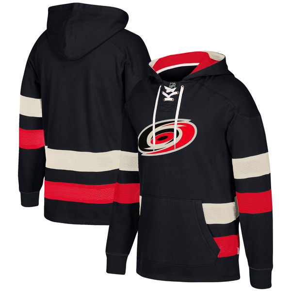 Carolina Hurricanes Black Men's Customized All Stitched Hooded Sweatshirt