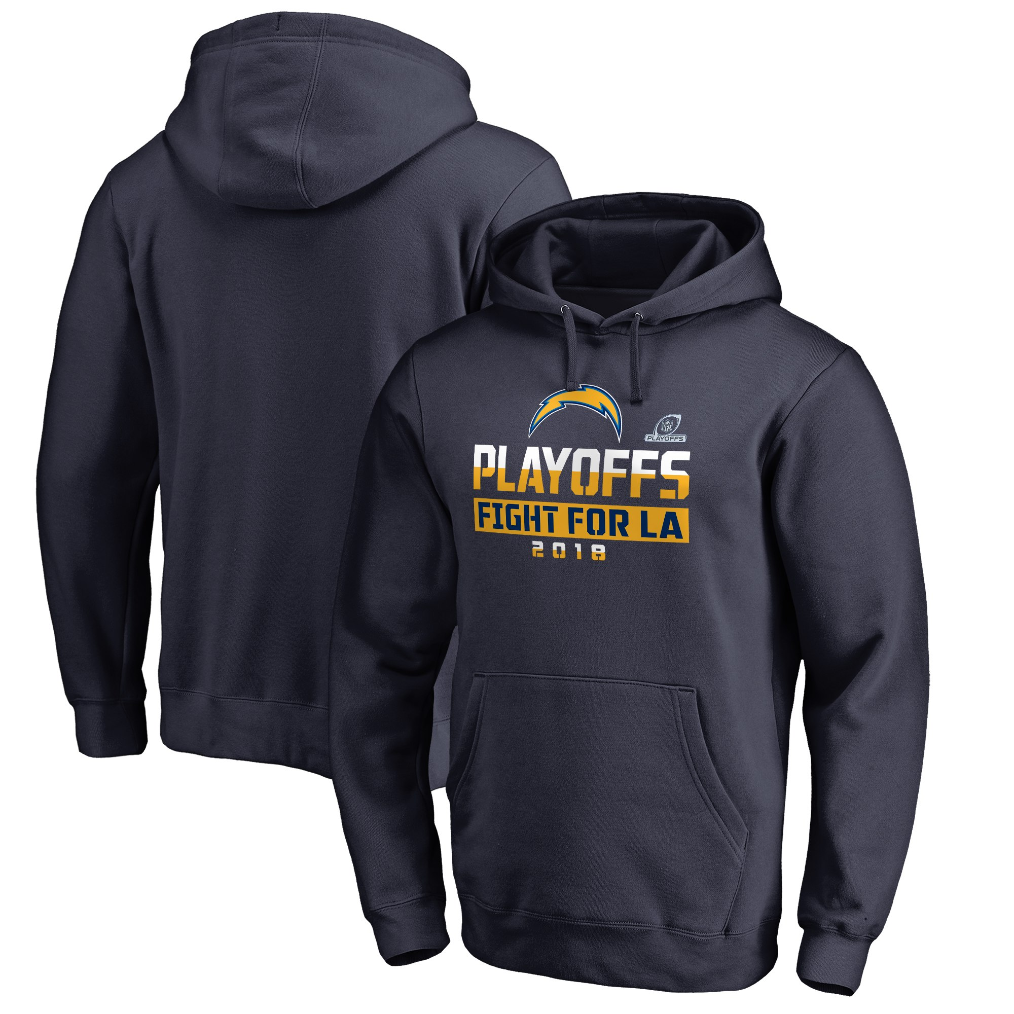Chargers Navy 2018 NFL Playoffs Fight For LA Men's Pullover Hoodie
