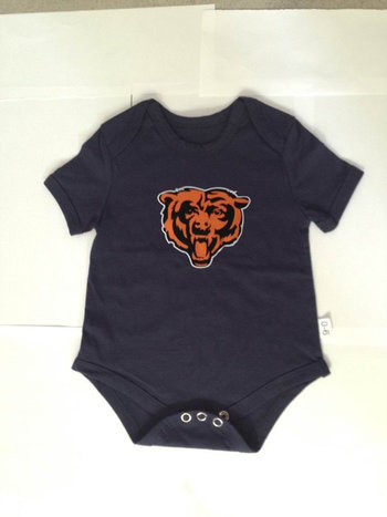 Chicago Bears Newborn Creeper Set - Navy Blue