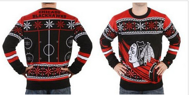 Chicago Blackhawks Men's NHL Ugly Sweater-1