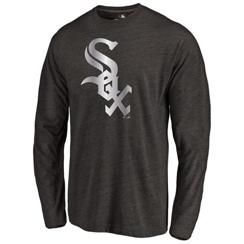 Chicago White Sox Platinum Collection Long Sleeve Tri-Blend T-Shirt Black