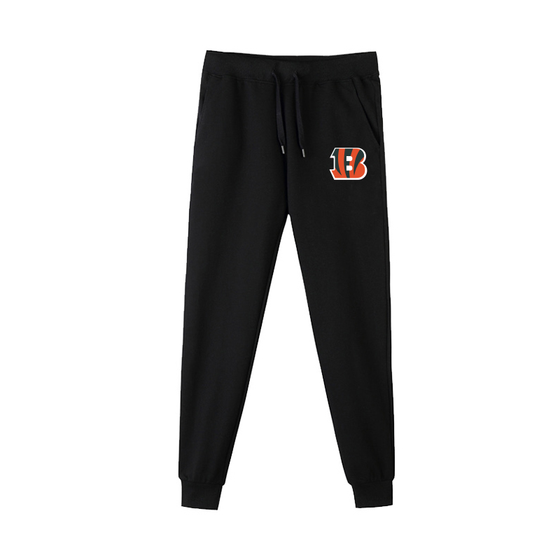 Cincinnati Bengals Black Men's Winter Thicken NFL Sports Pant