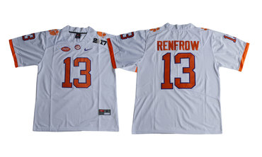 Clemson Tigers 13 Hunter Renfrow White College Football Playoff 2017 National Championship Bound Game Jersey
