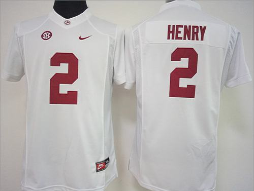 Crimson Tide #2 Derrick Henry White Women's Stitched NCAA Jersey