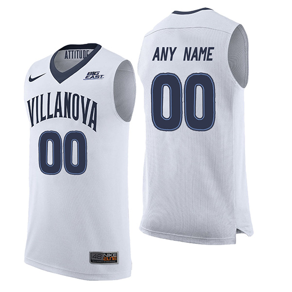 Custom Villanova Wildcats Men's Authentic White Stitched NCAA College Basketball Jersey