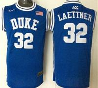 Duke Blue Devils #32 Christian Laettner Blue Basketball New Stitched NCAA Jersey