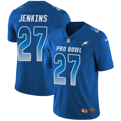 Eagles #27 Malcolm Jenkins Royal Youth Stitched Football Limited NFC 2019 Pro Bowl Jersey